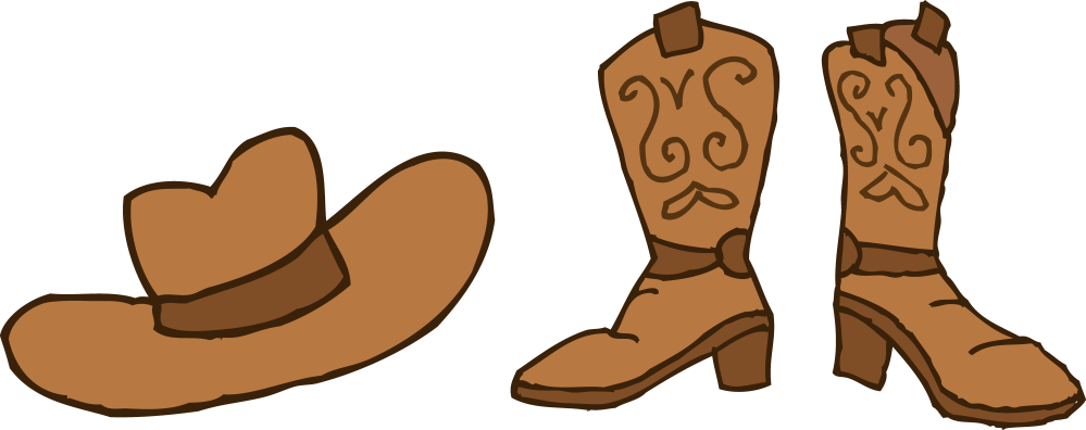 medium resolution of cowboy hat and boots clipart free clip art