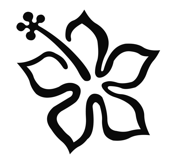 Free Hawaiian Flower Outline, Download Free Clip Art, Free