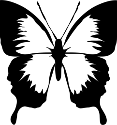 butterfly clip art black and white clipart library free clipart [ 2555 x 2381 Pixel ]