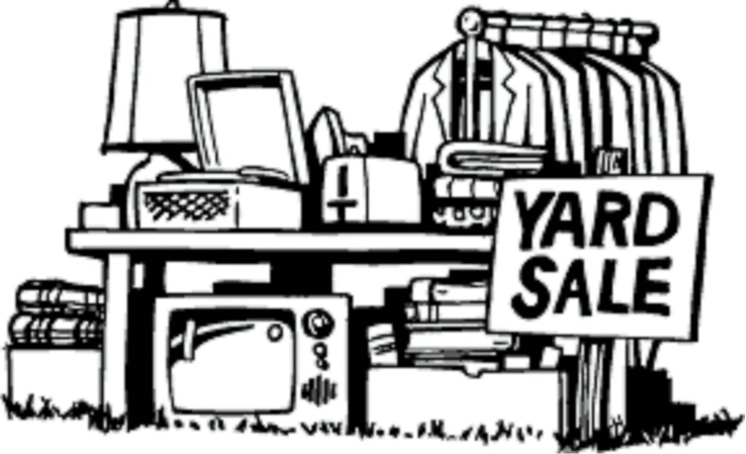 hight resolution of clip art yard sale clipart library