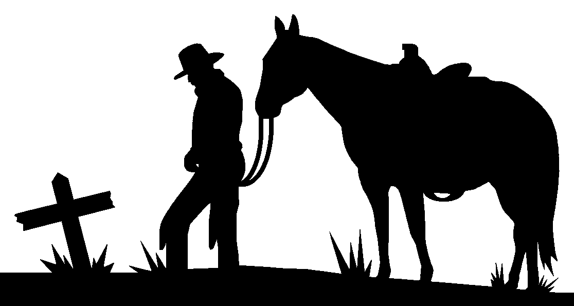 free cowboy silhouette images