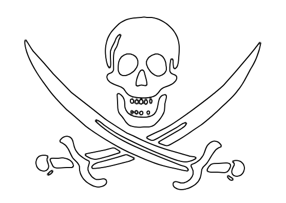 Free Pirate Skull And Crossbones, Download Free Clip Art