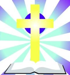 bible with cross clip art  [ 1024 x 768 Pixel ]