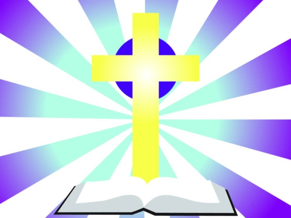 medium resolution of bible with cross clip art