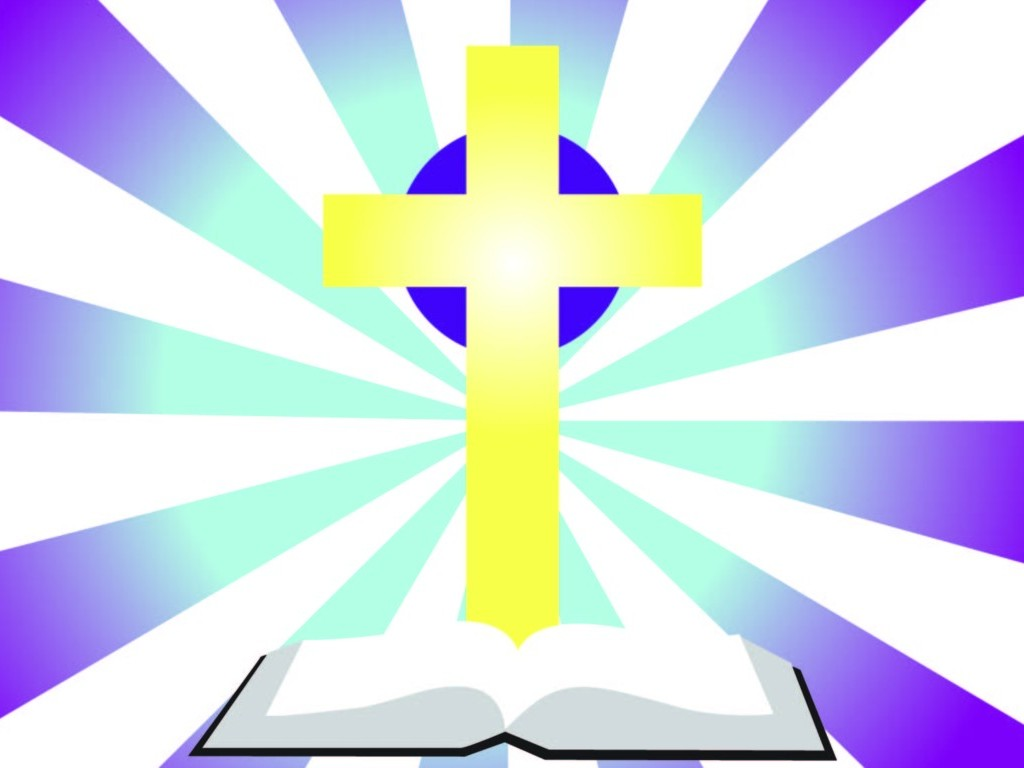 hight resolution of bible with cross clip art
