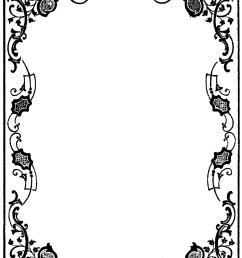 victorian border clip art clipart library [ 1636 x 2724 Pixel ]