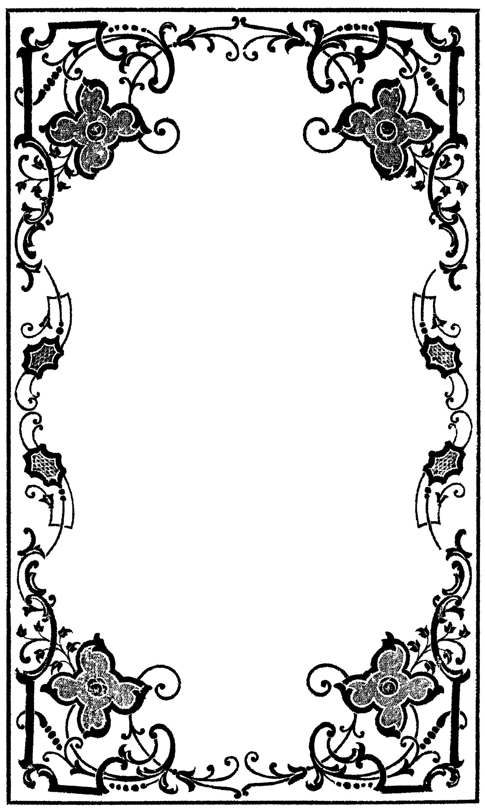 hight resolution of victorian border clip art clipart library