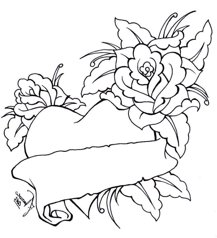 Free Roses Drawings With Hearts, Download Free Clip Art