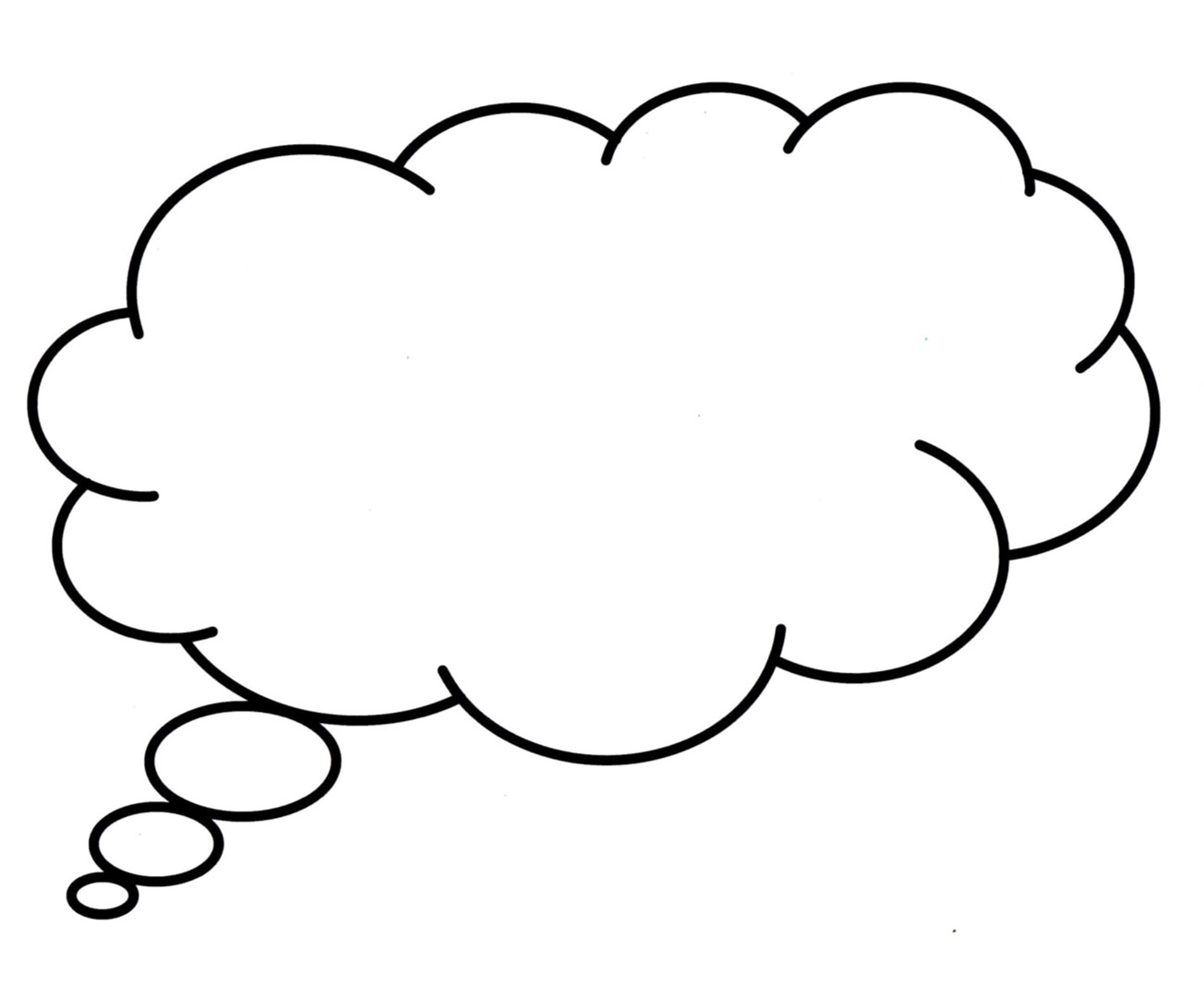 Free Free Printable Thought Bubbles Download Free Clip