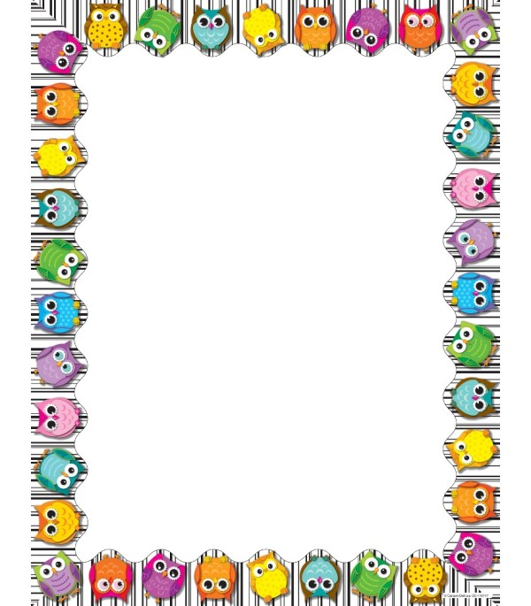 Free Owl Borders Clip Art Clipart Library