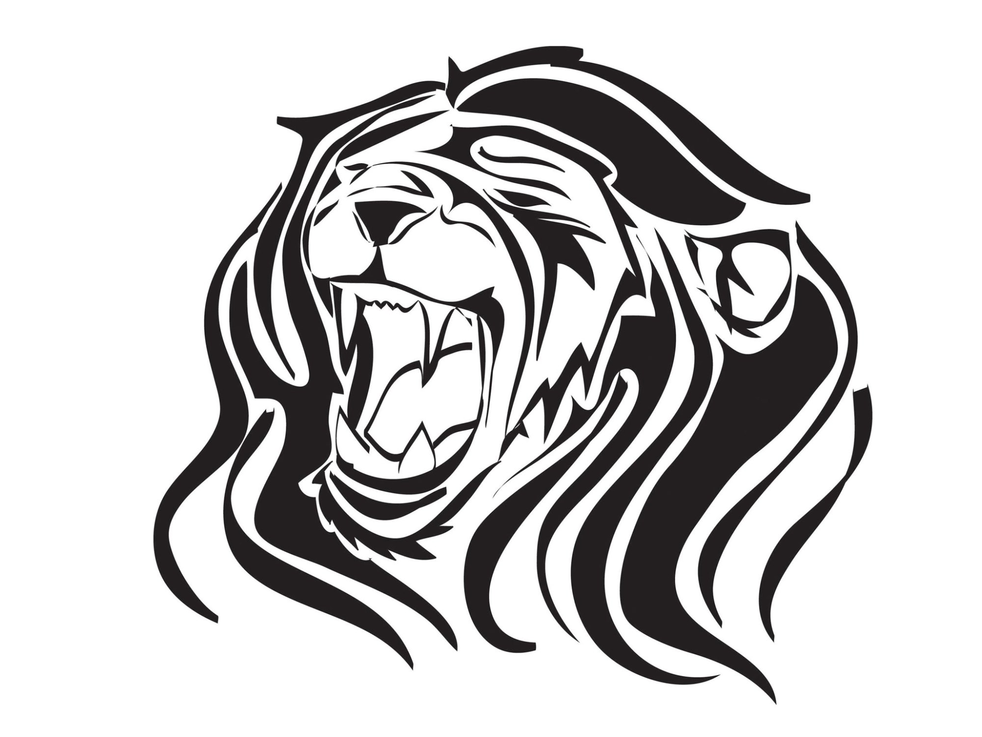 hight resolution of images of roaring lions clipart library
