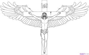 jesus cross drawing drawings draw cool step sketch crosses easy christ pencil simple tattoo sketches clipart cliparts lord dragoart symbols