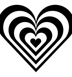 heart border clipart black and white clipart library free [ 1111 x 1111 Pixel ]
