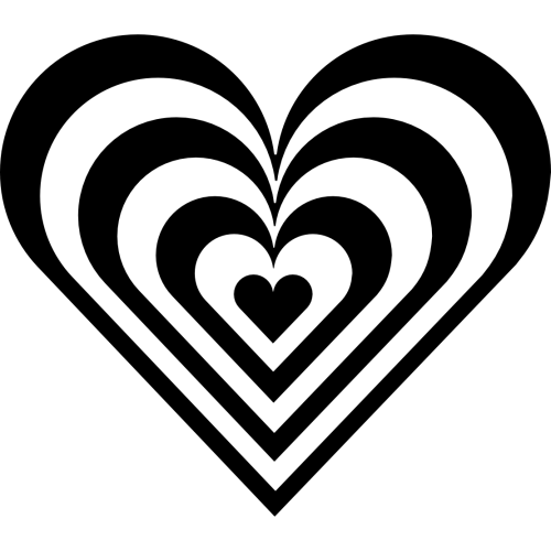 small resolution of heart border clipart black and white clipart library free