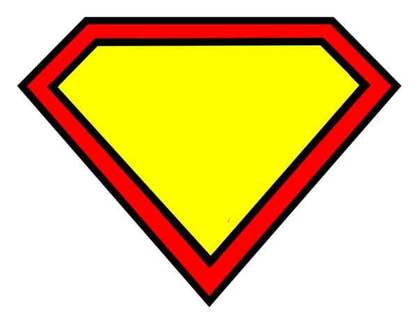 blank superman logo free