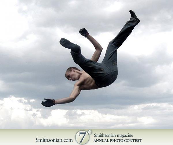 Person Sky Art Falling Clip