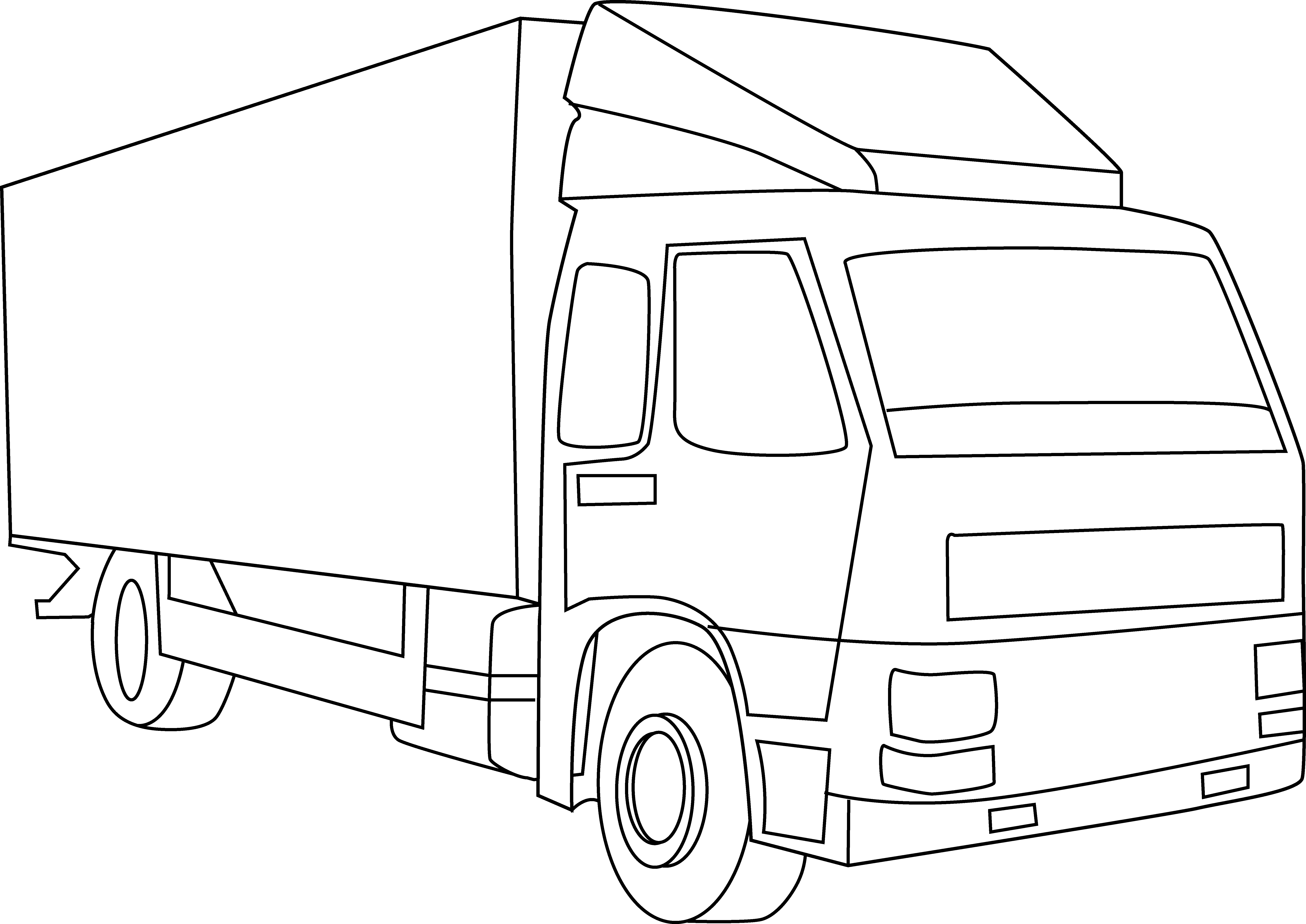 Free Truck Outline, Download Free Clip Art, Free Clip Art