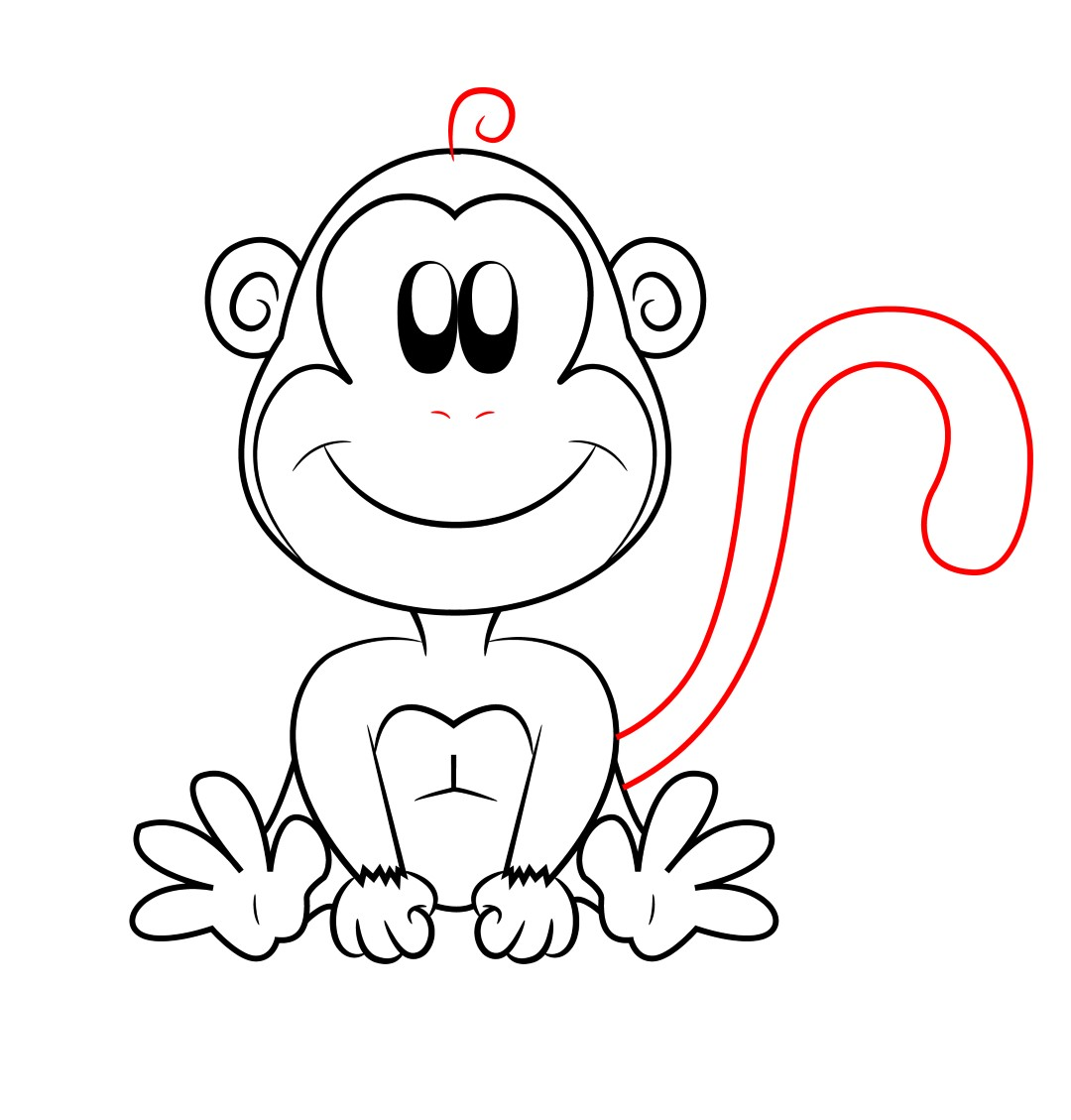 Free Monkey Cartoon Drawings Download Free Clip Art Free Clip Art On Clipart Library