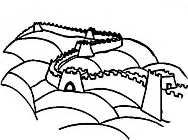 the great wall Colouring Pages (page 3)