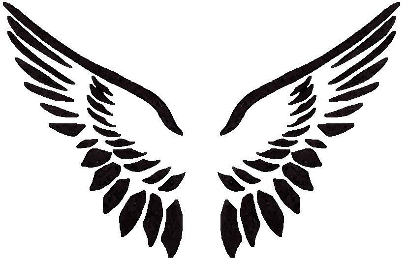 free angel wings logo