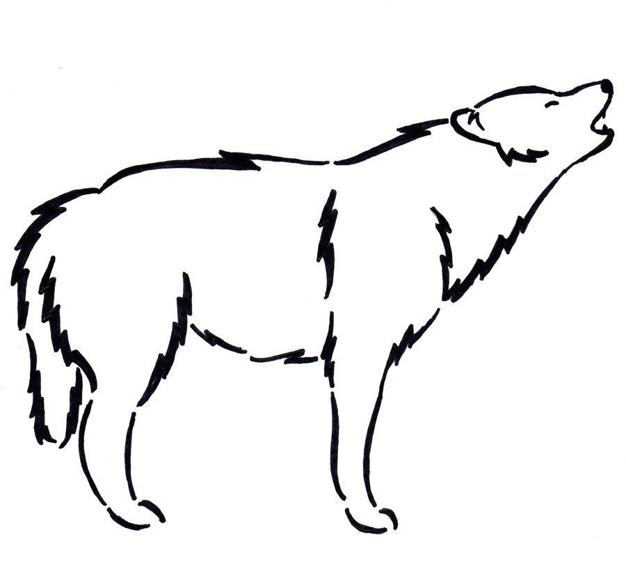 Free Simple Wolf Drawings, Download Free Clip Art, Free