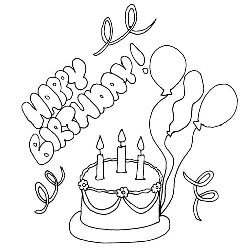 Free Happy Birthday Drawing, Download Free Clip Art, Free