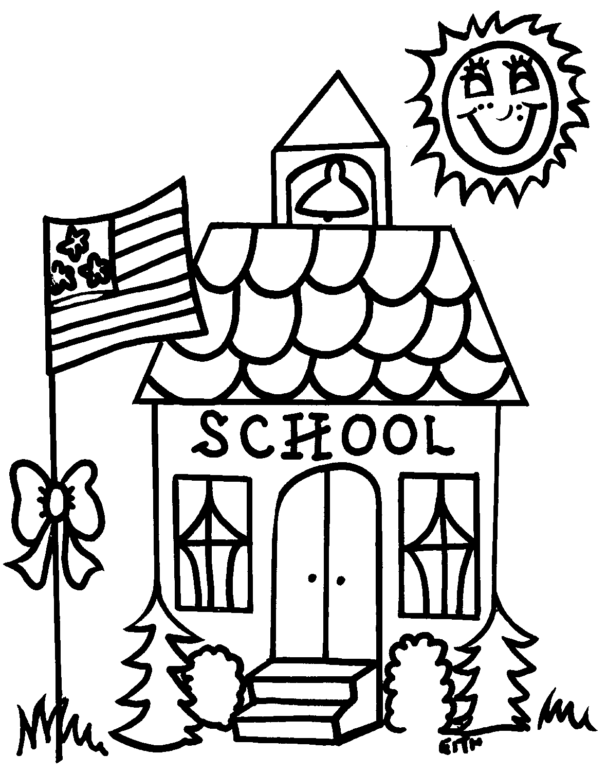 Free School House Outline, Download Free Clip Art, Free