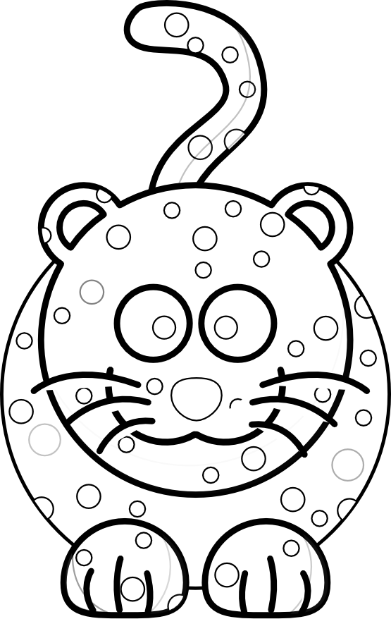 Clipart Of A Retro Vintage Black And White Monkey And