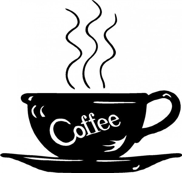 coffee pot clipart black and white