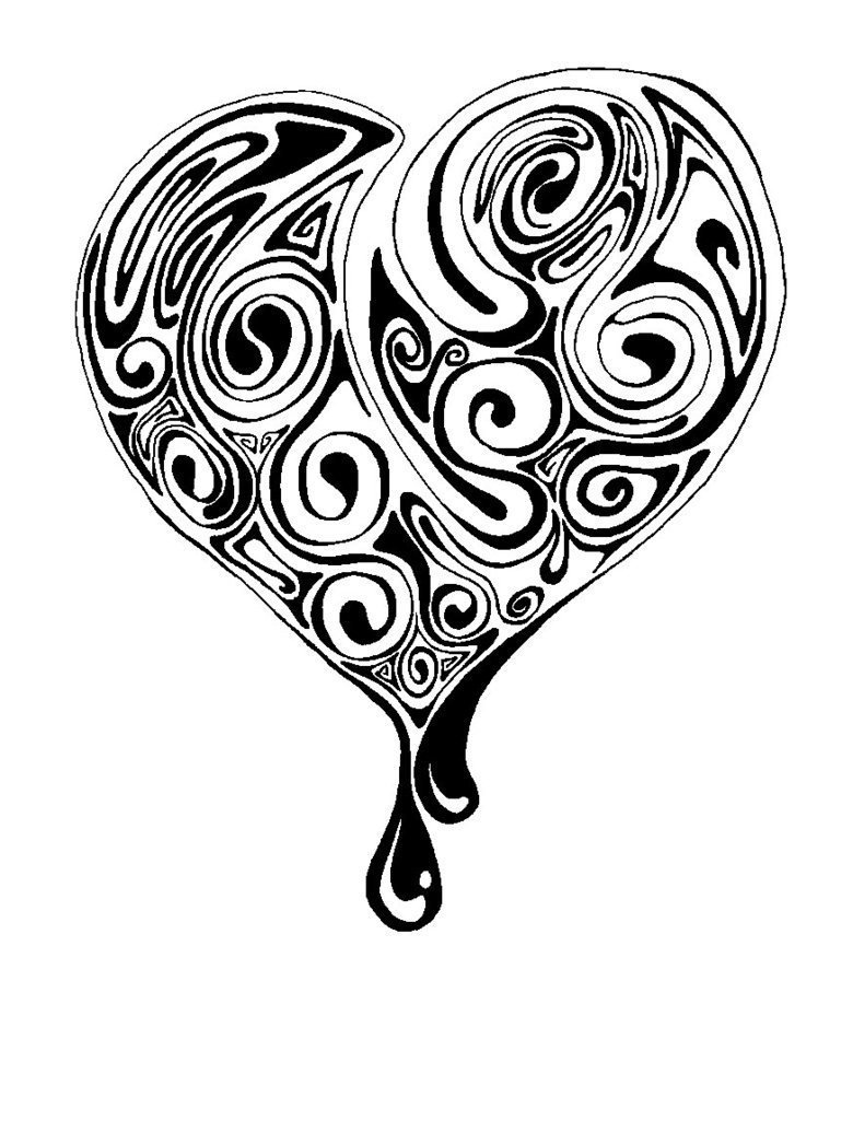 16 Black Heart Tattoos ideas | black heart tattoos