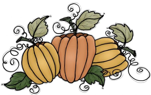 free fall pumpkin clipart