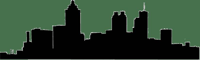 skyline silhouette atlanta vector transparent clip clipart library