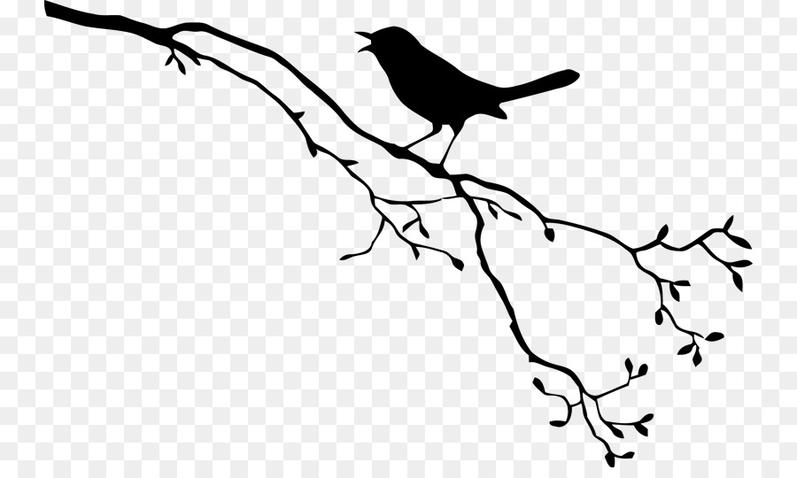Free Bird Branch Silhouette, Download Free Clip Art, Free