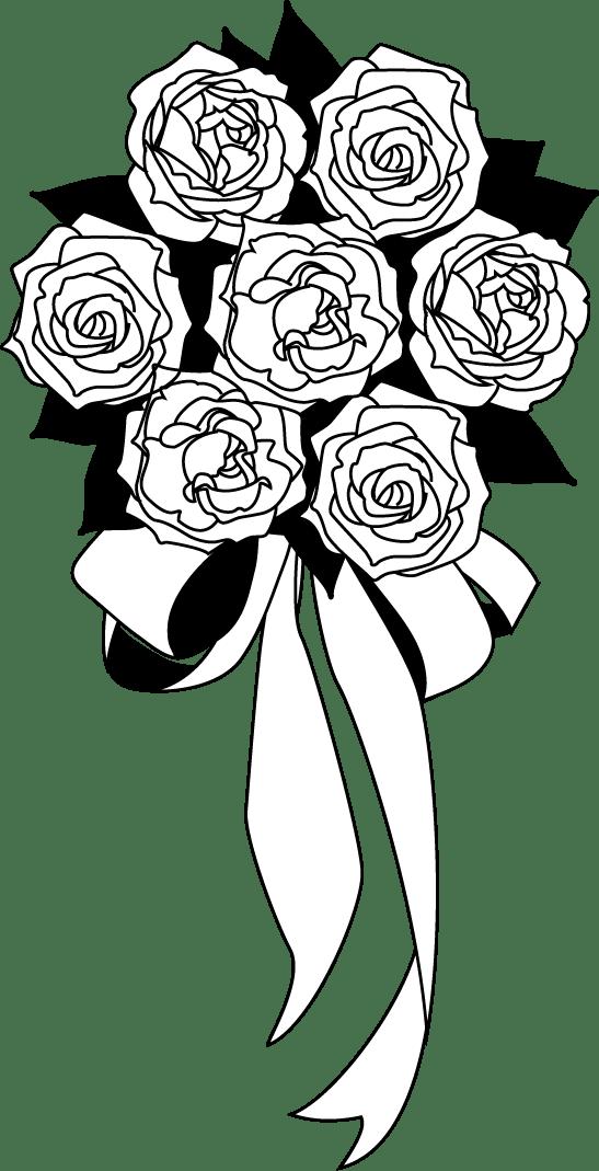 Buket Bunga Png : buket, bunga, Floral, Design, Nosegay, Black, White, Flower, Download, 547*1069, Transparent, Download., Library