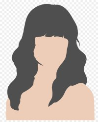 silhouette outline body female face drawing library clipart vector illustration clip