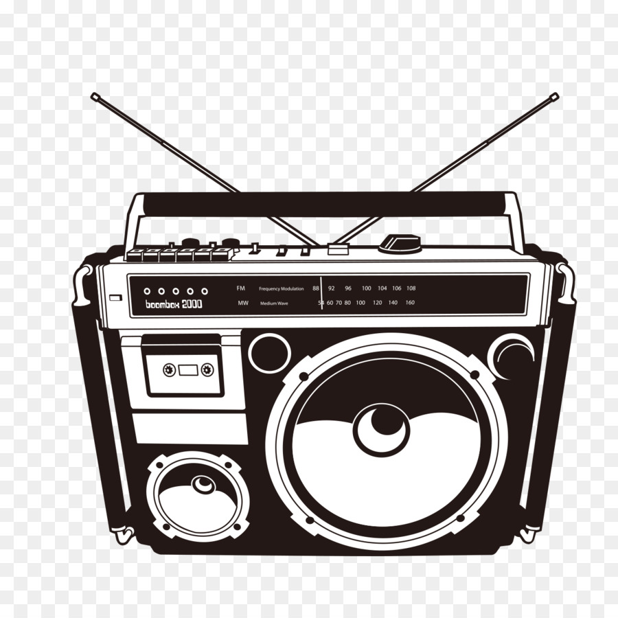 Free Boombox Silhouette, Download Free Clip Art, Free Clip