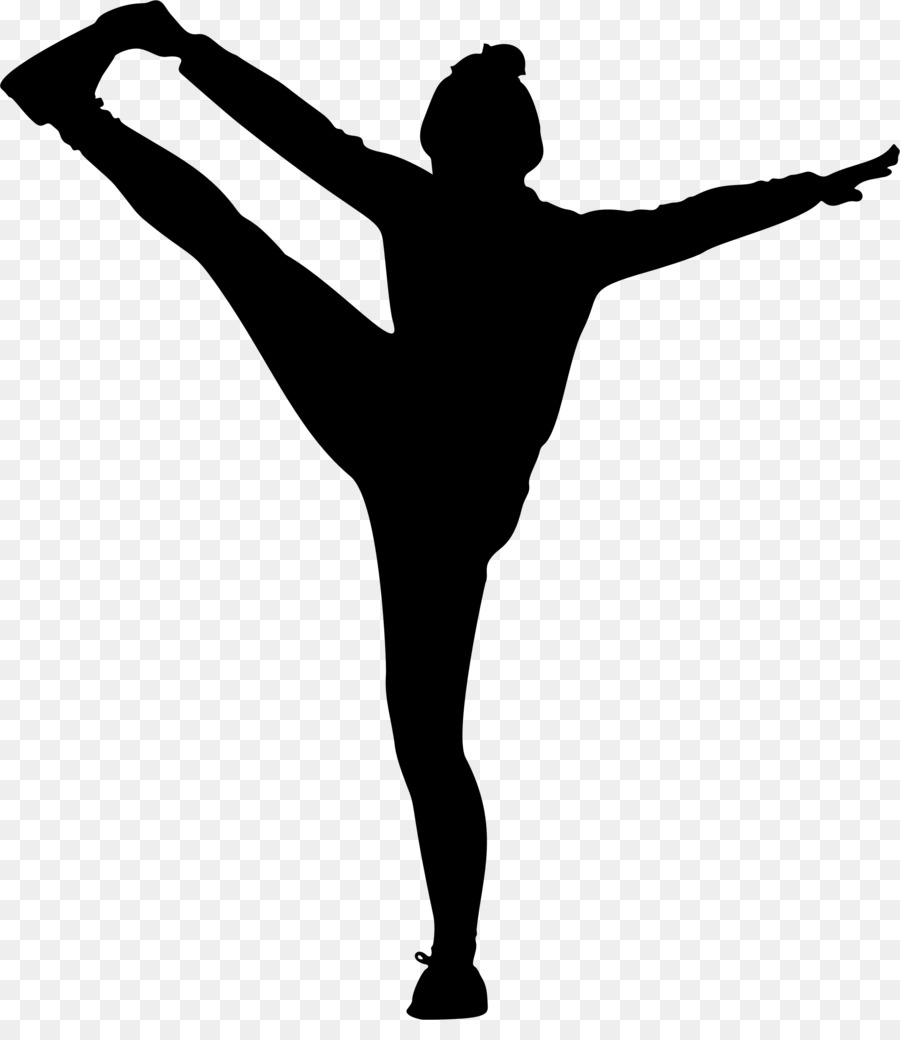 Heel Stretch Cheerleading Silhouette