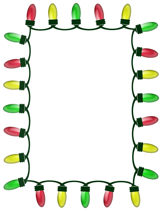 Christmas Lights Gif Transparent Background : christmas, lights, transparent, background, Christmas, Lights, Santa, Claus, Animated, Borders, Cliparts, Download, 533*693, Transparent, Download., Library