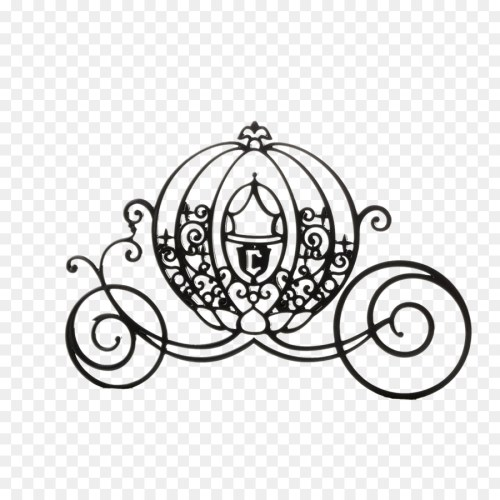 small resolution of cinderella mickey mouse carriage silhouette black cartoon pumpkin carriage png download