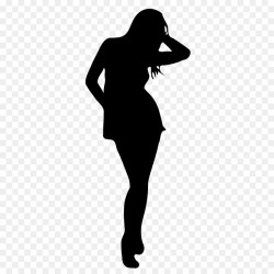 silhouette outline body female woman transparent library clipart line background clip