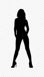female silhouette outline body clipart woman clip heels svg library transparent hair