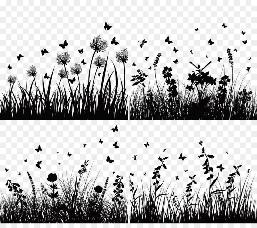 Flower Vector Black And White