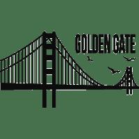 Golden Gate Bridge Sticker Silhouette   bridge png ...