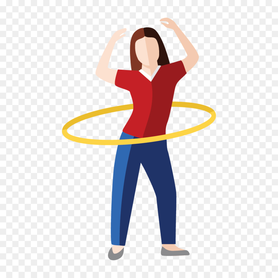 hight resolution of hula hoops shoulder physical fitness clip art line png download