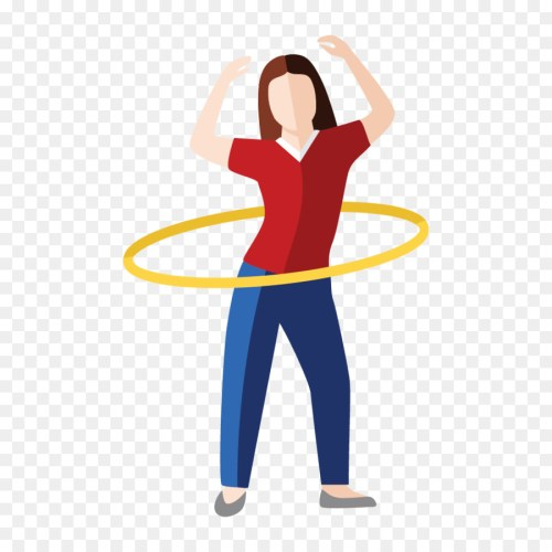 small resolution of hula hoops shoulder physical fitness clip art line png download