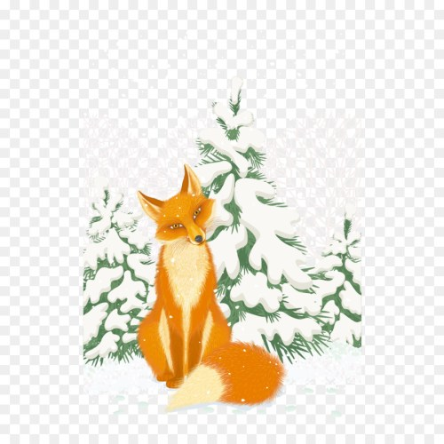 small resolution of red fox arctic fox illustration vector snow little fox png download 1250 1250