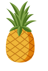 pineapple transparent clipart clip pizza hawaiian yellow hand painted cliparts