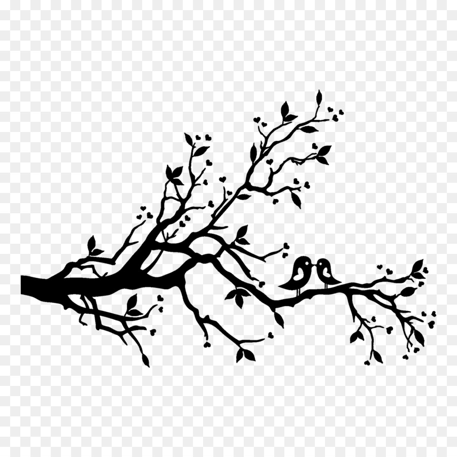 Free Silhouette Birds On Branch, Download Free Clip Art