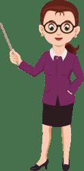 teacher cartoon clip female transparent clipart teachers vector teaching lehrerin education jobs board college cliparts computer short character boy library