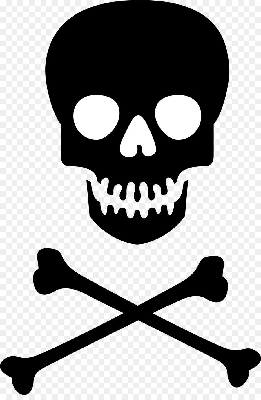 Skull And Crossbones Clip Art Free : skull, crossbones, Hazard, Symbol, Skull, Crossbones, Poison, Clipart, Download, 2400*3635, Transparent, Download., Library